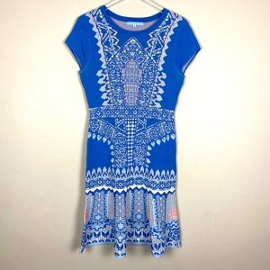 Antonio Melani Blue Print Knit Dress